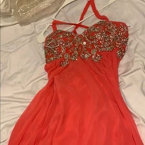 Pink prom dress perfect for spring!
